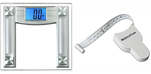 BalanceFrom High Accuracy Digital Bathroom Scale Free Tape Measure