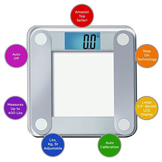 Impressive Features EatSmart Precision Digital Bathroom Scale