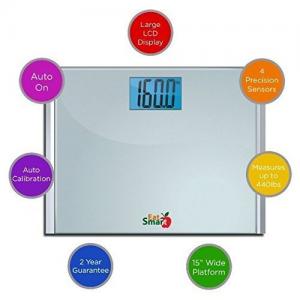 Eatsmart Precision Plus Digital Bathroom Scale Features
