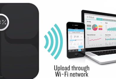 Fitbit Aria Smart Scale WiFi network upload