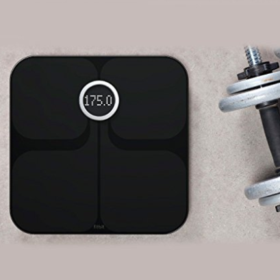 Elegant Fitbit Aria Wifi Smart Scale tracks weight