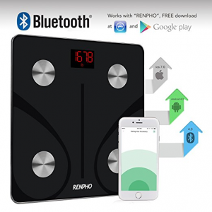 Black Renpho Bluetooth App for Body Fat Scale
