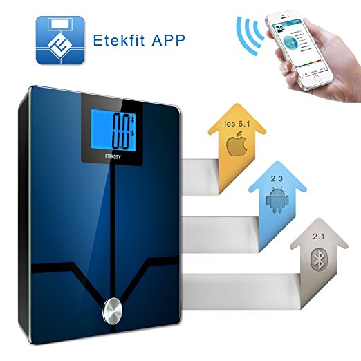 Etekcity App with Bluetooth Digital scale connection for body fat to monitor and track your health management