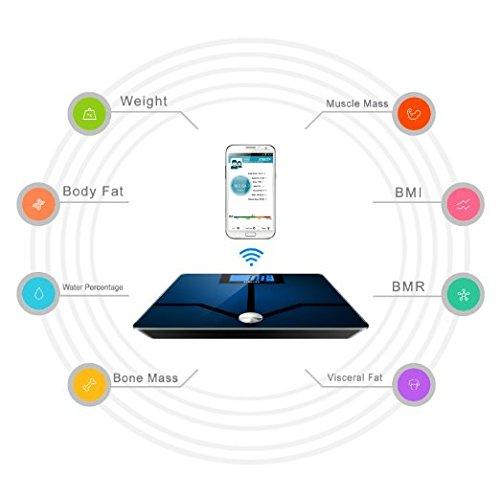 Smart Bluetooth Etekcity Digital Bathroom Scale for Body Fat to track your weight loss and fitness goals